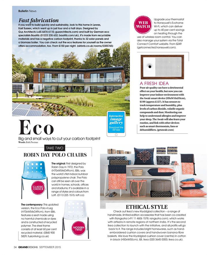 Polo chair featured in this month's Grand Designs Magazine