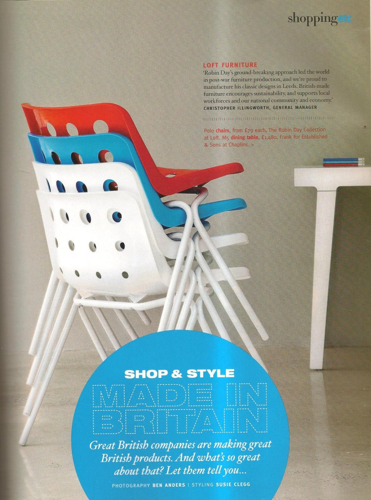 Made in Britain article in Living Etc magazine