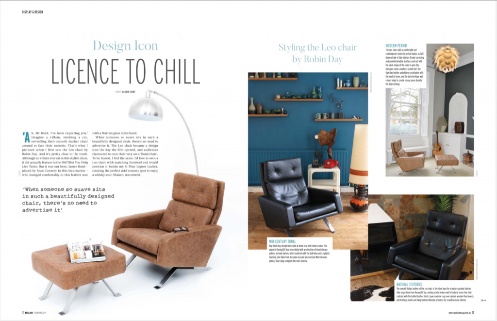 Leo chair featured in Reclaim Magazine