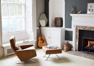 Robin Day Leo Chair and Ottoman - Residential